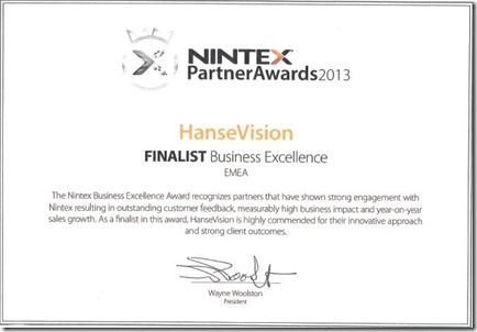 Nintex Partner Award